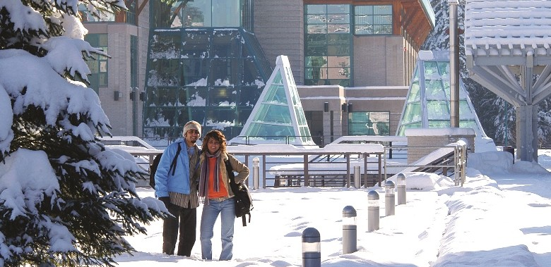 Two students at UNBC