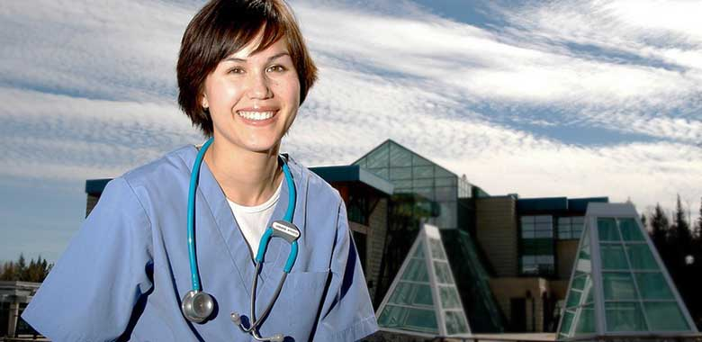 A doctor trained at UNBC