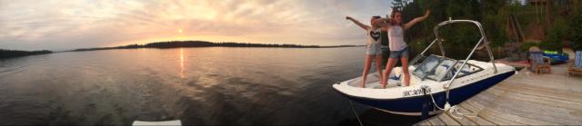 Boating at Cluculz Lake