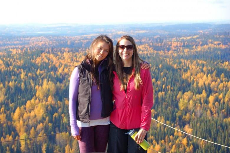 Tasha hiking with a friend