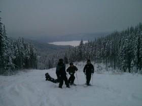 Clark skiing