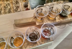 Beer tasting at Pacific Western Brewing