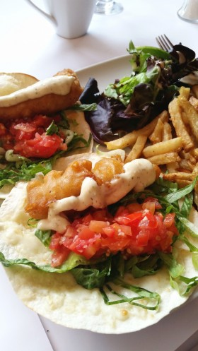 Fish tacos from the White Goose restaurant