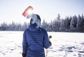 Ice fishing on Shane Lake