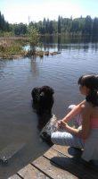 Sandra's daughter at the lake