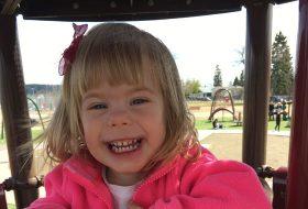 Alexandra's daughter at the park