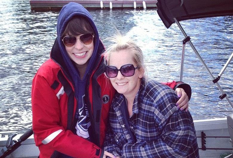 Alexandra on a boat