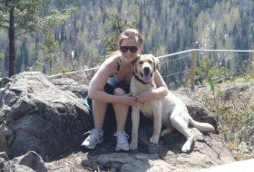 Alexandra with her dog