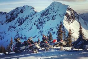 Instagram worthy place 5: Snowmobiling in the mountains