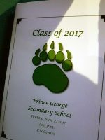 Class of 2017 graduation pamphlet
