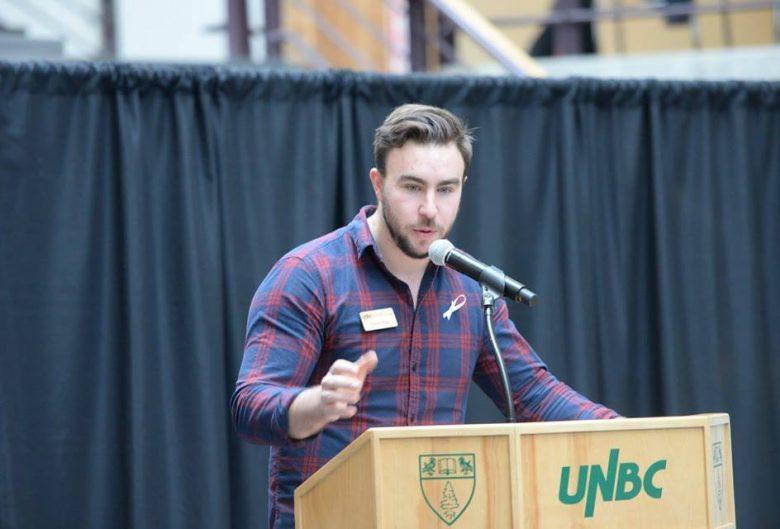 Darrin giving a speech