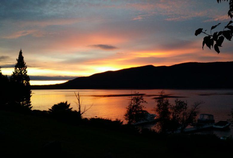 Sunset at Purden Lake