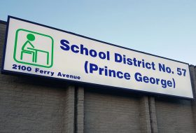 School District No. 57 sign
