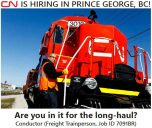 Conductor (Freight Trainperson) Job in Prince George, BC