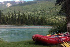 Rafting at Maligne Lake