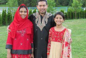 Shumaiya's husband and daughters