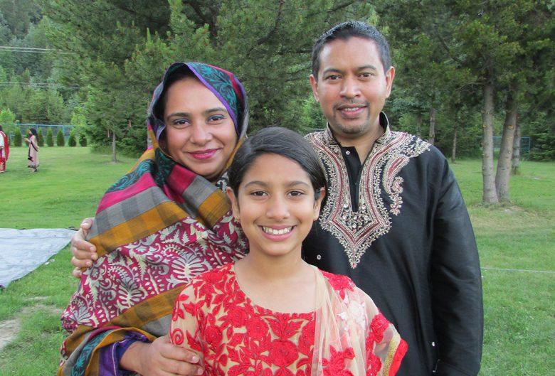Shumaiya with her husband and daughter