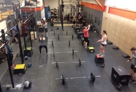 People doing a CrossFit workout