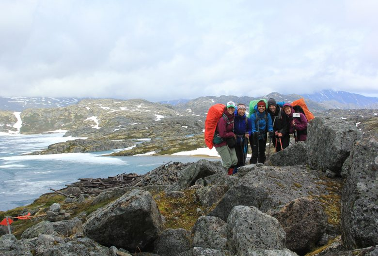 Group photo on the Chilkoot Trail