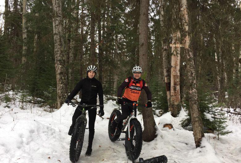 Two men on fat bikes