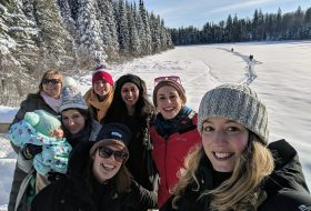 Snowshoeing at Shane Lake
