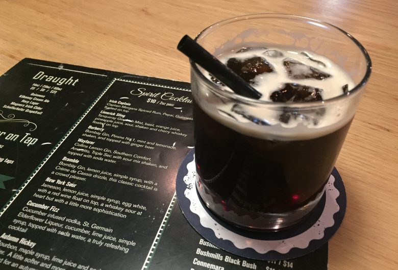 Drink on a menu