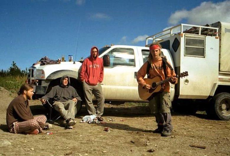 men truck guitar