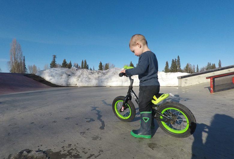 boy riding bmx bike