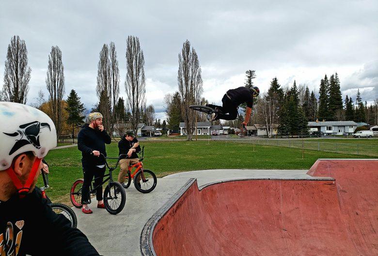 people at bmx park