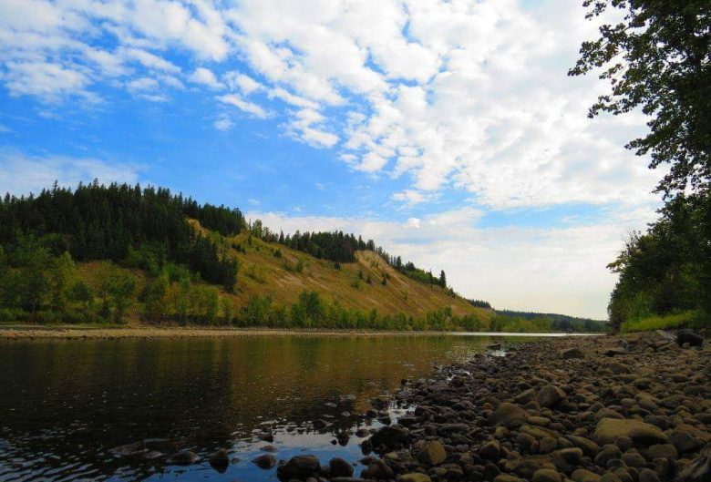 cutbanks along the Nechako River