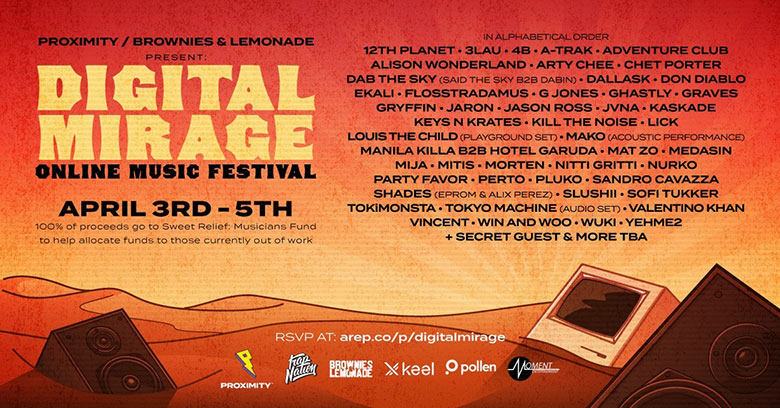 online music festival poster