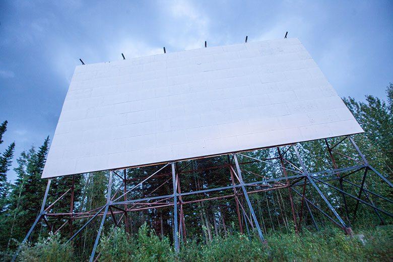 drive-in theatre screen