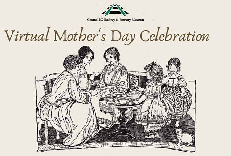Virtual Mother's Day celebration poster