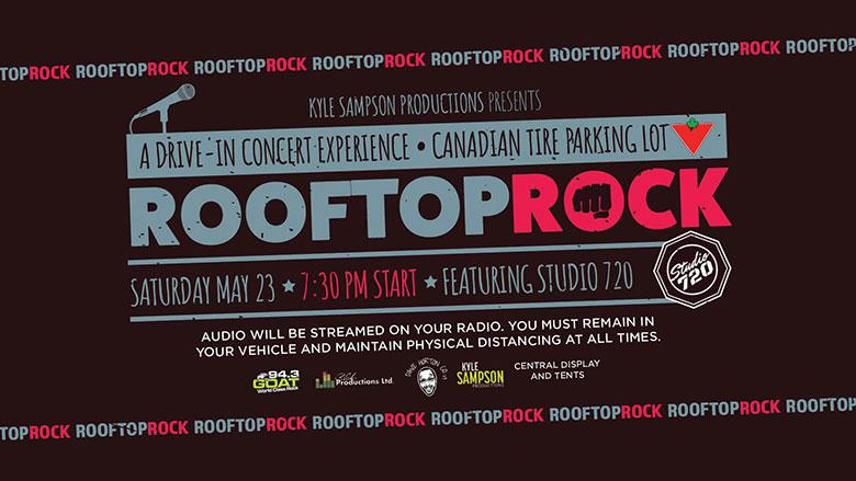 Rooftop Rock concert poster