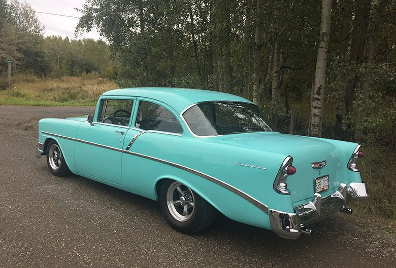 teal classic car