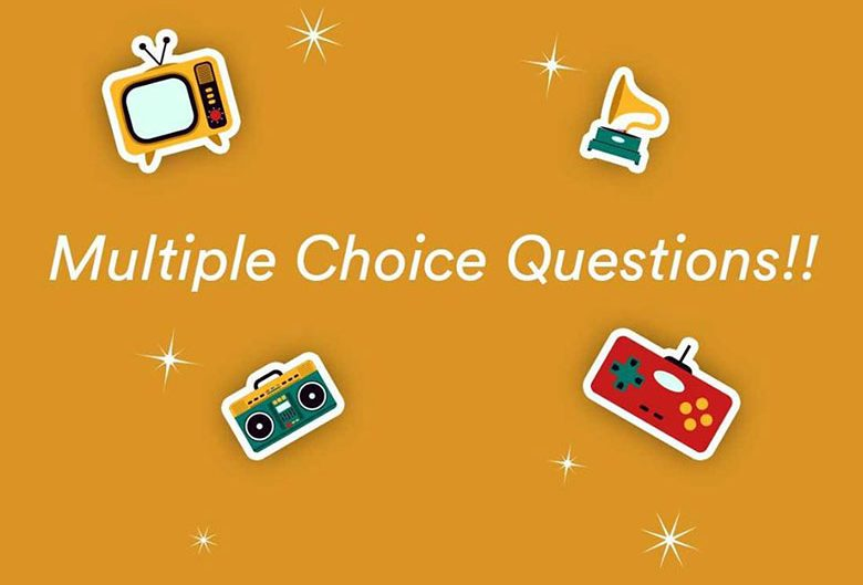 multiple choice questions poster
