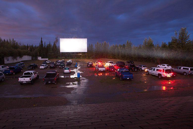Drive-in theatre.
