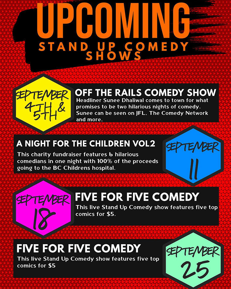 Comedy shows graphic