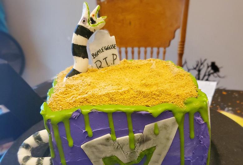 Beetle Juice cake.