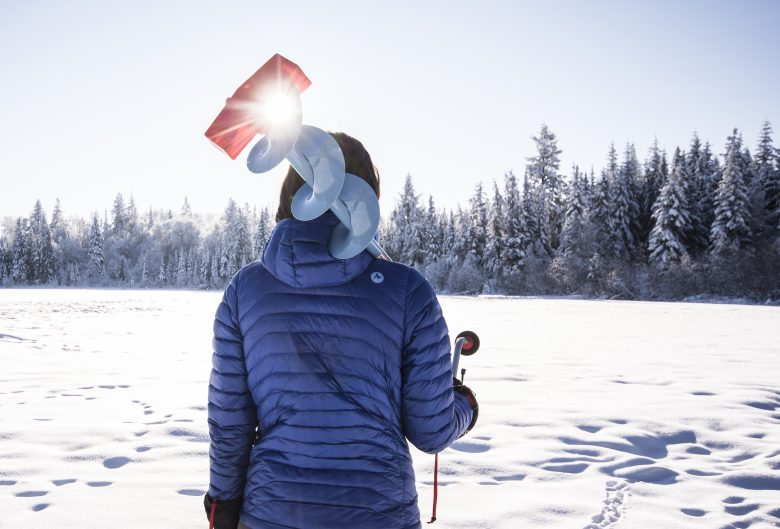 Ice fishing on Shane Lake.
