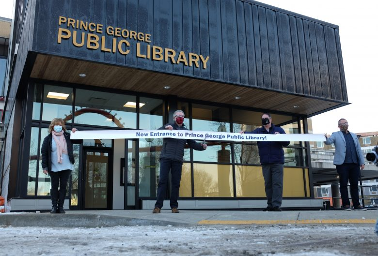 Prince George Public Library entrance opening.