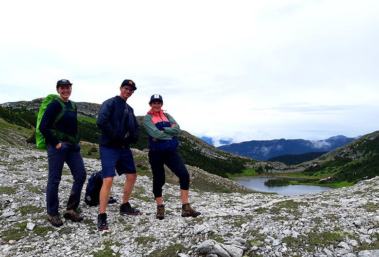Three hikers.