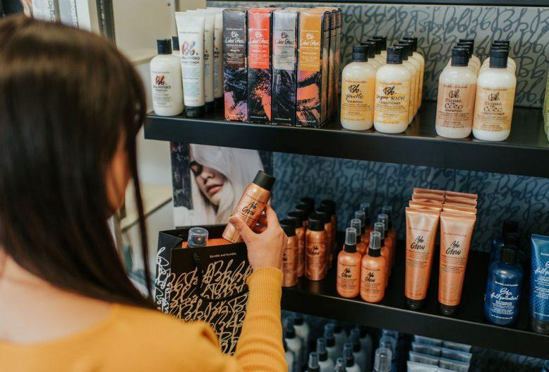 Woman shopping at spa.