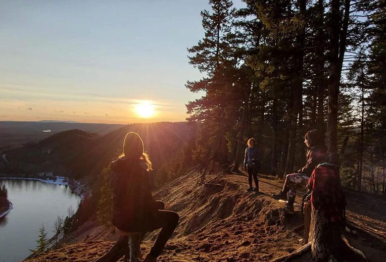 Hikers at top of Nechako Ridge.