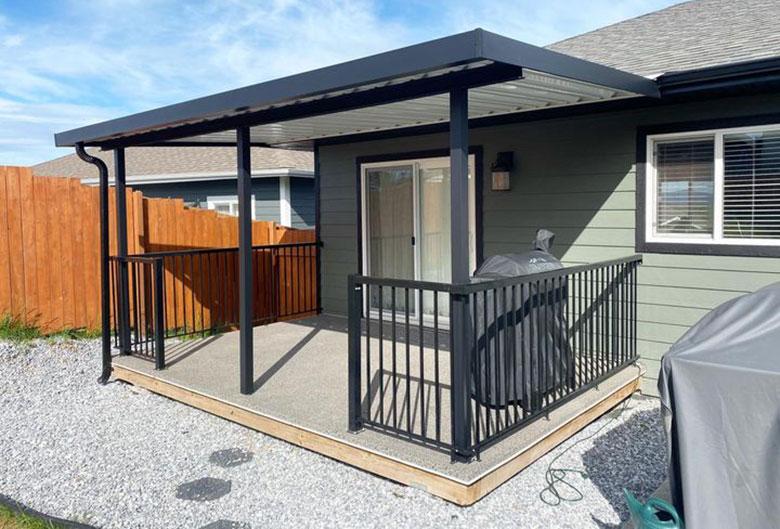 Backyard BBQ and patio.
