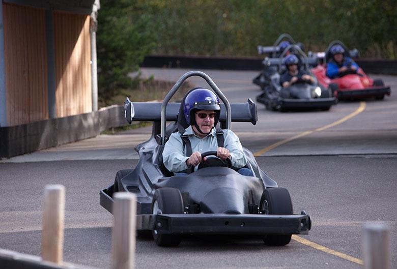 Go-kart racing.