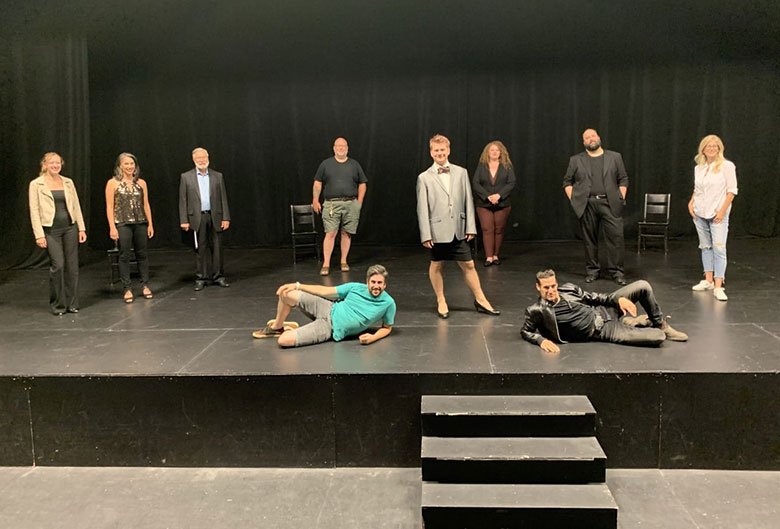 Cast of a theatre production.